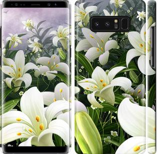 Чехол на Samsung Galaxy Note 8 Белые лилии
