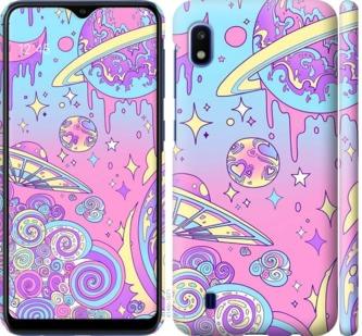 Чехол на Samsung Galaxy A10 2019 A105F Розовая галактика