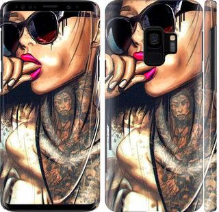 Чехол на Samsung Galaxy S9 Девушка в тату