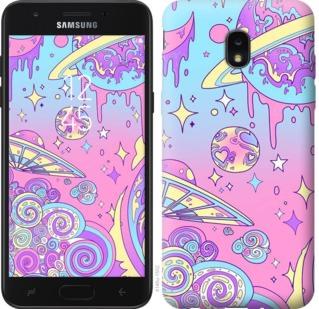 Чехол на Samsung Galaxy J7 2018 Розовая галактика