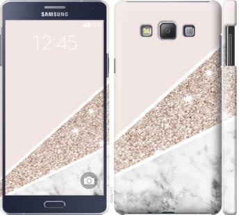Чехол на Samsung Galaxy A7 A700H Пастельный мрамор