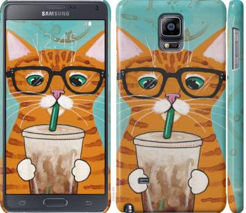 Чехол на Samsung Galaxy Note 4 N910H Зеленоглазый кот в очках