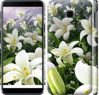 Чехол на Samsung Galaxy J4 Plus 2018 Белые лилии