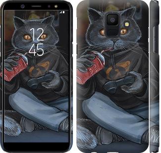 Чехол на Samsung Galaxy A6 2018 gamer cat
