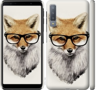 Чехол на Samsung Galaxy A7 (2018) A750F Лис в очках