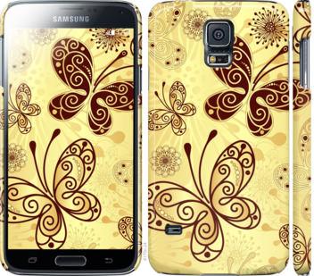 Чехол на Samsung Galaxy S5 g900h Красивые бабочки