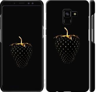 Чехол на Samsung Galaxy A8 Plus 2018 A730F Черная клубника