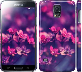 Чехол на Samsung Galaxy S5 g900h Пурпурные цветы