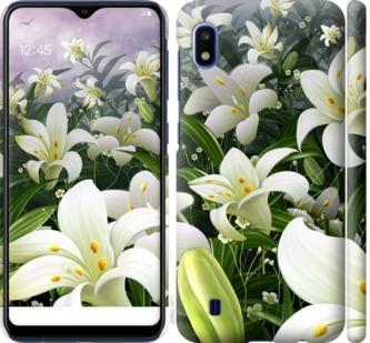Чехол на Samsung Galaxy A10 2019 A105F Белые лилии