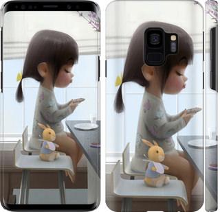 Чехол на Samsung Galaxy S9 Милая девочка с зайчиком