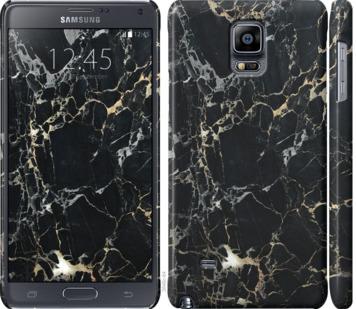 Чехол на Samsung Galaxy Note 4 N910H Черный мрамор