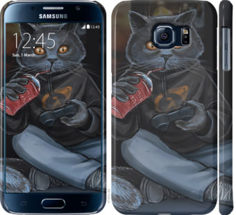 Чехол на Samsung Galaxy S6 G920 gamer cat