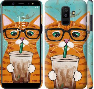 Чехол на Samsung Galaxy A6 Plus 2018 Зеленоглазый кот в очках
