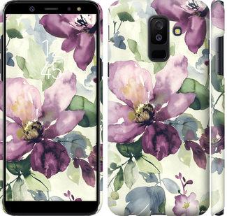 Чехол на Samsung Galaxy A6 Plus 2018 Цветы акварелью