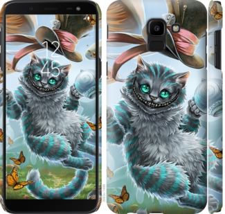 Чехол на Samsung Galaxy J6 2018 Чеширский кот 2