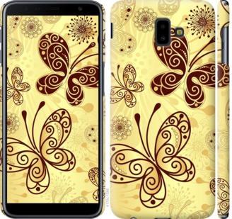 Чехол на Samsung Galaxy J6 Plus 2018 Красивые бабочки