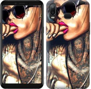 Чехол на Samsung Galaxy A6s Девушка в тату
