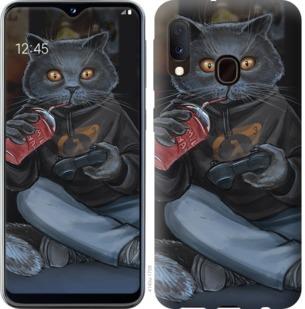 Чехол на Samsung Galaxy A20e A202F gamer cat