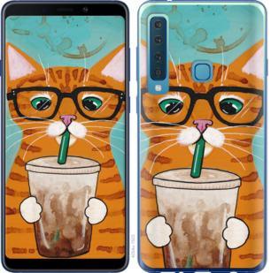 Чехол на Samsung Galaxy A9 (2018) Зеленоглазый кот в очках