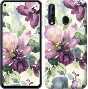 Чехол на Samsung Galaxy A60 2019 A606F Цветы акварелью