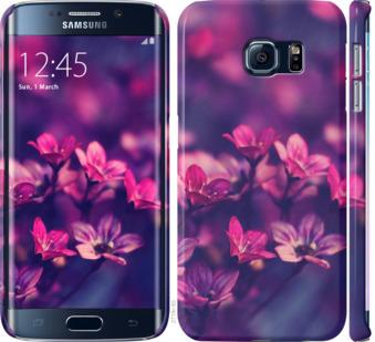 Чехол на Samsung Galaxy S6 Edge G925F Пурпурные цветы