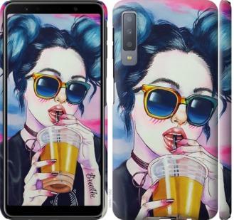 Чехол на Samsung Galaxy A7 (2018) A750F Арт-девушка в очках