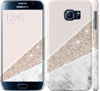 Чехол на Samsung Galaxy S6 G920 Пастельный мрамор