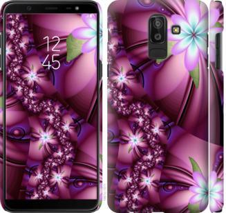 Чехол на Samsung Galaxy J8 2018 Цветочная мозаика