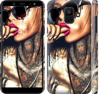 Чехол на Samsung Galaxy A6 2018 Девушка в тату