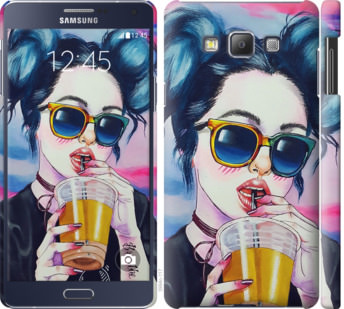 Чехол на Samsung Galaxy A7 A700H Арт-девушка в очках