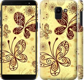 Чехол на Samsung Galaxy J6 2018 Красивые бабочки
