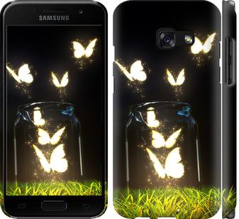 Чехол на Samsung Galaxy A3 (2017) Светящиеся бабочки