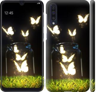 Чехол на Samsung Galaxy A50 2019 A505F Светящиеся бабочки