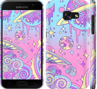 Чехол на Samsung Galaxy A3 (2017) Розовая галактика