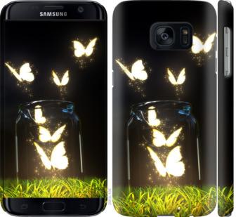 Чехол на Samsung Galaxy S7 G930F Светящиеся бабочки