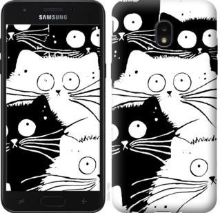 Чехол на Samsung Galaxy J7 2018 Коты v2