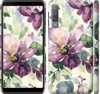Чехол на Samsung Galaxy A7 (2018) A750F Цветы акварелью