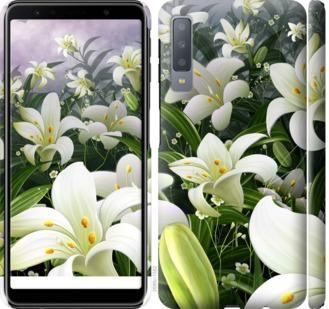 Чехол на Samsung Galaxy A7 (2018) A750F Белые лилии