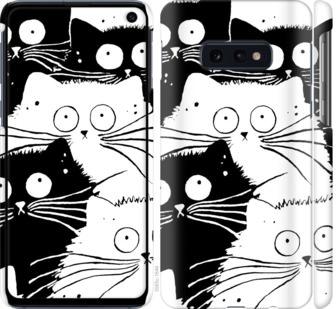Чехол на Samsung Galaxy S10e Коты v2