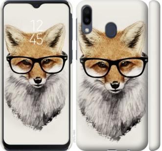 Чехол на Samsung Galaxy M20 Лис в очках