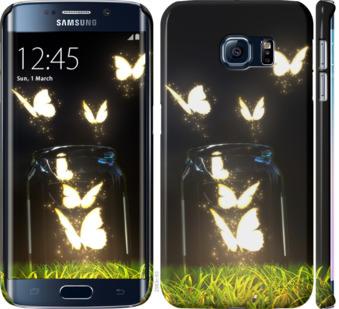 Чехол на Samsung Galaxy S6 Edge G925F Светящиеся бабочки