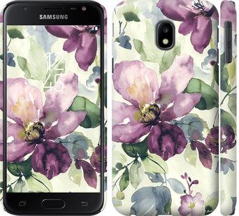 Чехол на Samsung Galaxy J3 (2017) Цветы акварелью