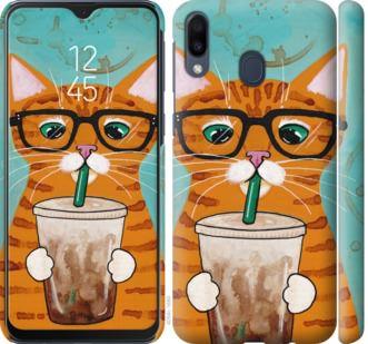 Чехол на Samsung Galaxy M20 Зеленоглазый кот в очках