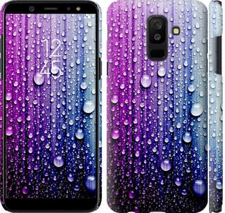 Чехол на Samsung Galaxy A6 Plus 2018 Капли воды