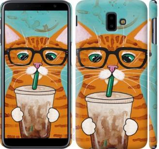 Чехол на Samsung Galaxy J6 Plus 2018 Зеленоглазый кот в очках