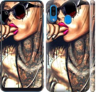 Чехол на Samsung Galaxy A30 2019 A305F Девушка в тату