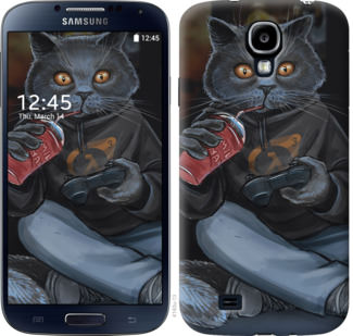 Чехол на Samsung Galaxy S4 i9500 gamer cat