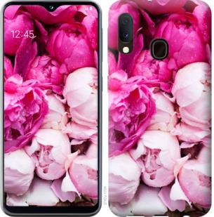 Чехол на Samsung Galaxy A20e A202F Розовые пионы