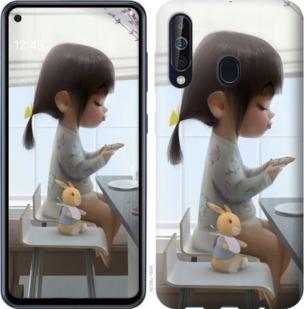 Чехол на Samsung Galaxy A60 2019 A606F Милая девочка с зайчиком