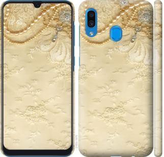 Чехол на Samsung Galaxy A20 2019 A205F Кружевной орнамент